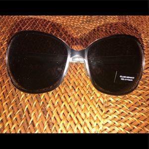 Club Monaco silver and black sunglasses